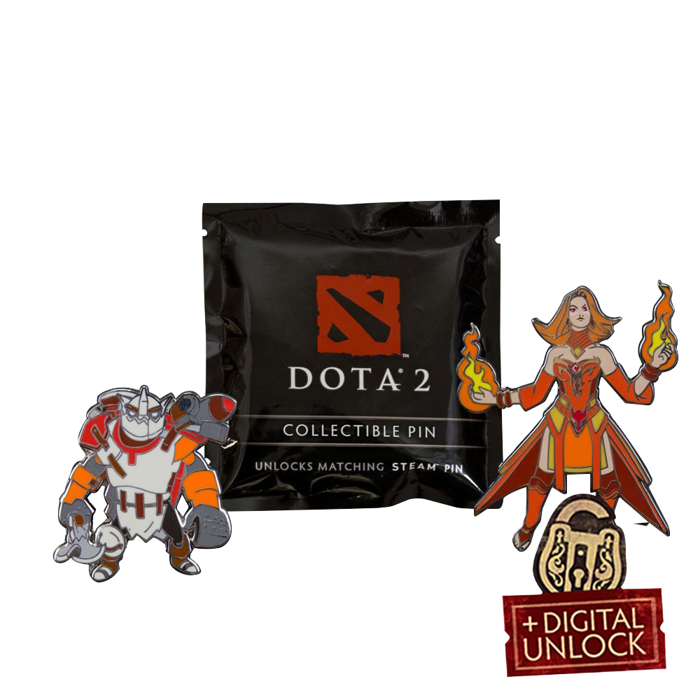 картинка Значок Dota 2 Blindbox Collectible Pins